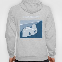 Labyrinth on the Shore, Sketch, Cyanotype Hoody