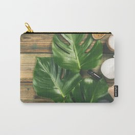 Tropical leaves Monstera and SPA products Carry-All Pouch