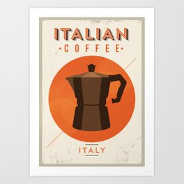Vintage Coffee Pot Poster Art Print