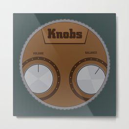 Knobs Metal Print