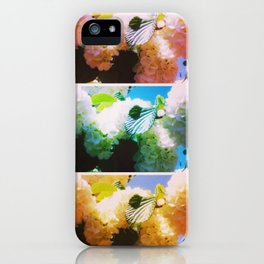 Bright Snowball Branch Collage (III) iPhone Case