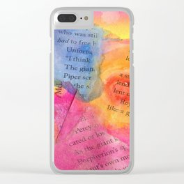 Tattered Pages Clear iPhone Case