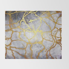 KINTSUGI  ::  Recognise Beauty Throw Blanket