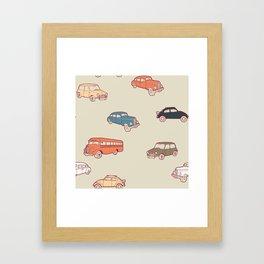 Retro cars. Framed Art Print