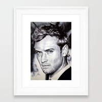 law Framed Art Prints featuring Jude Law by Matteo Felloni Artista