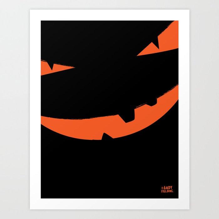 Halloween Pumpkin face pumpkinhead Art Print