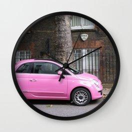 Pink Car Wall Clock