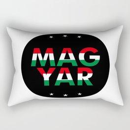 Magyar, circle, black, with stars Rectangular Pillow
