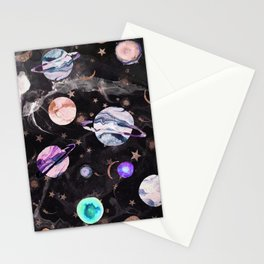 Marble Galaxy Stationery Cards
