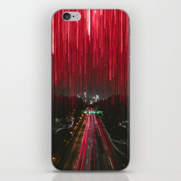 Lights and the LA Skyline at Night iPhone Skin