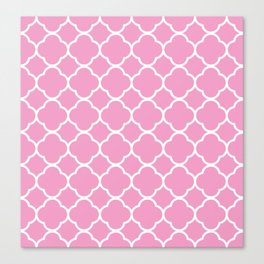 Blush Pink Quatrefoil Canvas Print