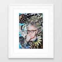 woody allen Framed Art Prints featuring Woody Allen by John Turck