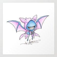 Still a little Batty Art Print