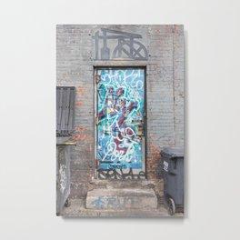 Colorful door in New York Metal Print