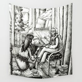 Poetry club Wall Tapestry