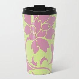 Oriental Flower - Strawberry & Daiquiri Green Lime Travel Mug
