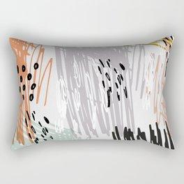 A quiet rage Rectangular Pillow