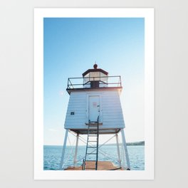 Small Lighthouse - Lake Superior Art Print