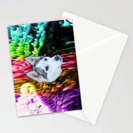 follow the husky trails Stationery Cards