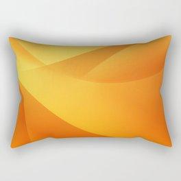 Orange Wallpaper Rectangular Pillow