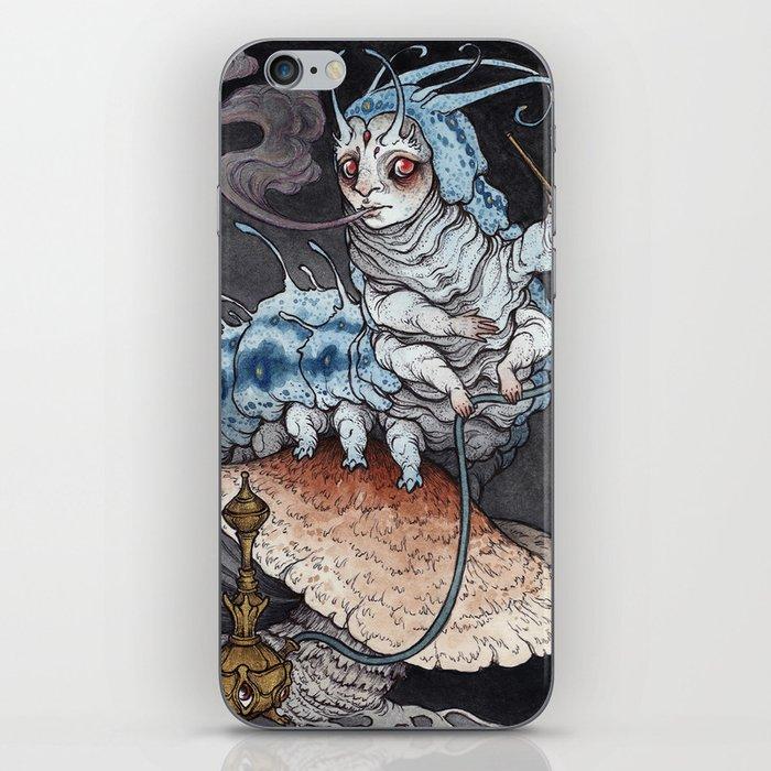 Absolem the Blue Caterpillar art print iPhone Skin