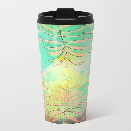 Floral Pollination Metal Travel Mug