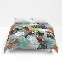 Tropical Birds (Color 2 - Bold) Comforters