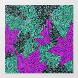 Australica Floral Palm Canvas Print