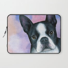 Dog 128 Boston Terrier Laptop Sleeve