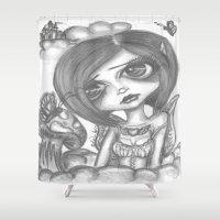 broken Shower Curtains featuring Broken by LianneAdelleArt