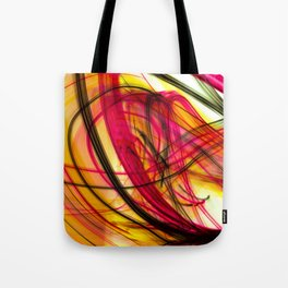 Heatwave Dynamic Abstract Painting Tote Bag