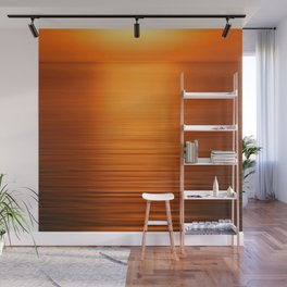 Sunset on the Water-Deep Orange Wall Mural