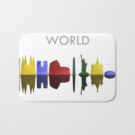 world skyline Bath Mat
