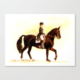 Horses and People No.2 Canvas Print