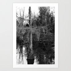 moss and tree Art Print