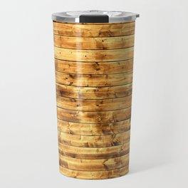 Grunge Rustic Wood pattern Travel Mug