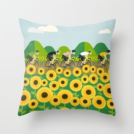 Le Tour I Throw Pillow