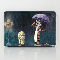 calvin and hobbes iPad Cases featuring My Neighbor Hobbes by Josh Mauser