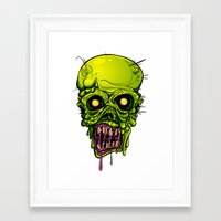 zombie Framed Art Prints featuring Zombie by Lady Macabre Art