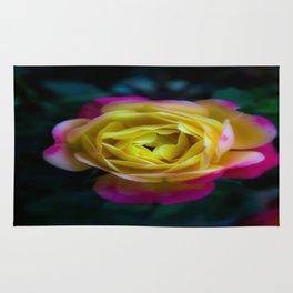 Foggy Rainbow Rose Rug