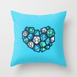 Heart of a Dungeon Master Throw Pillow