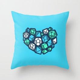 Heart of a Dungeon Master Throw Pillow
