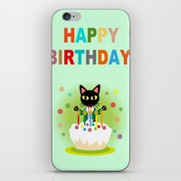 happy birthday iPhone & iPod Skins featuring Happy Birthday! by BATKEI