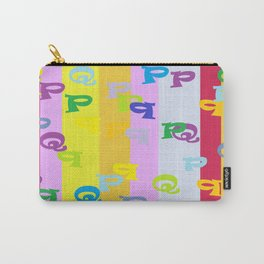 Mind Your P's and Q's Carry-All Pouch