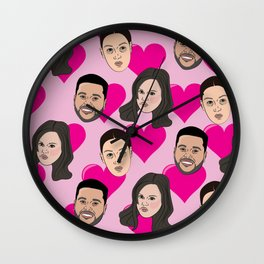 Love on the weeknd Wall Clock