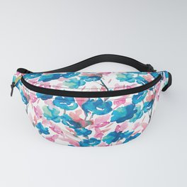 Watercolor Flowers Pattern designed by #MahsaWatercolor Fanny Pack