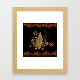 Hawaiian, tropical design Framed Art Print
