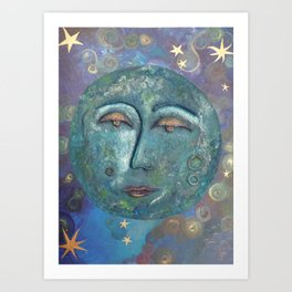 peaceful moon Art Print