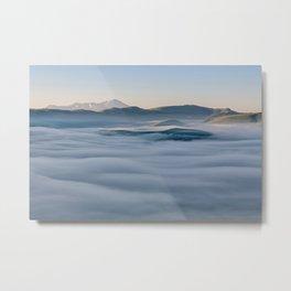 Above the fog, Castelluccio, Italy Metal Print