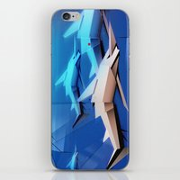 sharks iPhone & iPod Skins featuring Sharks by Deze Dezines